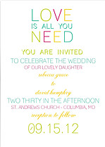 Color Pop Invitation  Wedding Magnets - Front