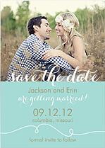 Aqua Suite Date Wedding Magnets - Front