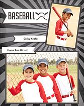 Baseball Black Baseball Memory Mates - Front