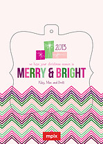 Bright Season Pop Ornate Christmas Modern Pop Cards - Front