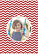 Christmas Chevron Pop Circle - Back