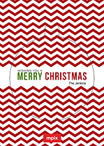 Christmas Chevron Pop Circle Christmas Modern Pop Cards - Front