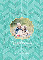 Merry Chevron Pop Ornate - Front