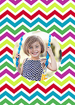 Playful Chevron Pop Circle - Back