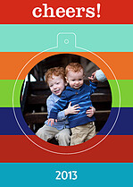 Vibrant Cheers Pop Circle Christmas Modern Pop Cards - Front