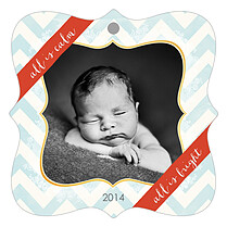 Rise And Shine Blue Holiday Holiday Ornaments - Front