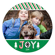 Oh Joy Circle Holiday Holiday Ornaments - Front