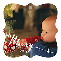 Chic Wishes Christmas Holiday Ornaments - Front