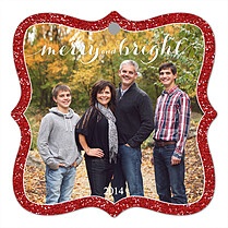 Sparkling Season Holiday Holiday Ornaments - Front