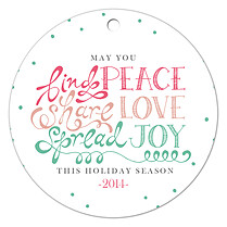 Spread Joy Holiday Holiday Ornaments - Front