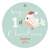 Christmas Chirp Christmas Holiday Ornaments - Front