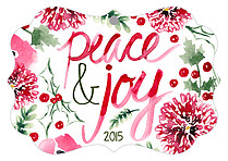 Crisp Joy Holiday Holiday Ornaments - Front