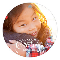 Gleeful Greetings Holiday Holiday Ornaments - Front
