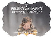 Merry Everything Holiday Holiday Ornaments - Front
