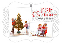 Tasteful Duo Christmas Holiday Ornaments - Front