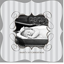 Baby's 1st Christmas - Ornate - Front