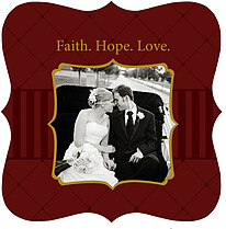 Faith. Hope. Love. - Ornate - Front