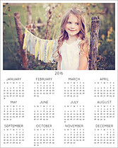 Traditional 2016 White Photo Calendars - Front
