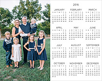 Seasons 2016 White Photo Calendars - Front