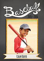 Baseball Black Baseball Photo Trader Cards - Front