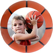 Basketball Small Clings - Front