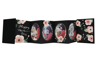 Blooms On Chalk Mother's Day Accordion Minis - Back