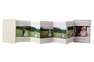 Happily Ever After Wedding Accordion Minis - Front