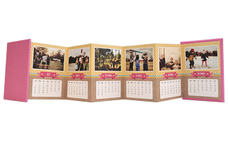 It's a Wrap 2015 Calendar Accordion Minis - Back