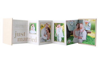 Just Married Wedding Accordion Minis - Front