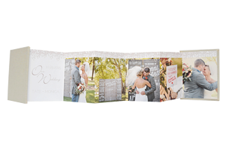 Dazzling Gray Wedding Accordion Minis - Front