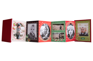 Be Merry Holiday Accordion Minis - Back