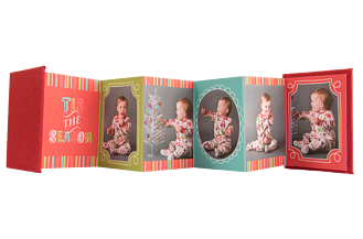 Gift-Wrapped Goodies Holiday Accordion Minis - Front