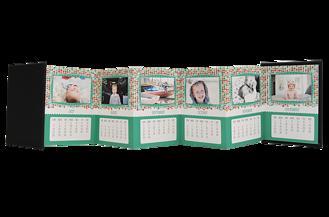 Mosaic Musings 2016 Calendar Accordion Minis - Back