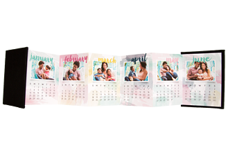 Color Puff 2016 Calendar Accordion Minis - Front