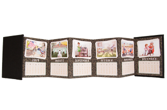 Little Yearling 2016 Charcoal Calendar Accordion Minis - Back