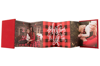 Perfect Plaid Holiday Accordion Minis - Front