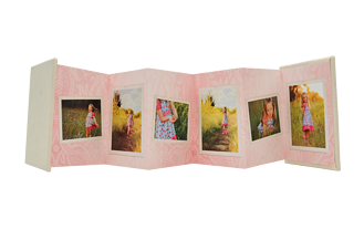 Damask Chic Pink Baby & Kids Accordion Minis - Front