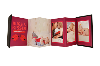 Hugs and Kisses Valentine's Day Accordion Minis - Front