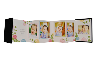Fancy Floral Mother's Day Accordion Minis - Front