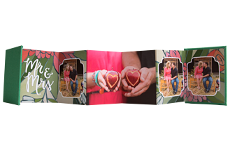 Flourishing Love Wedding Accordion Minis - Front