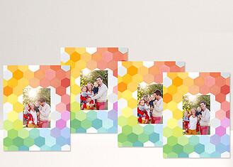 Geo Spectrum - 4 11x14 Mats Geo Color Block Framers - Front