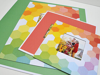 Geo Color Block - Mixed Mat Set - View 2