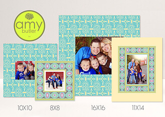 Pacific Melody by Amy Butler - Mixed Mat Set Pacific Melody <small>by Amy Butler</small> Framers - Front