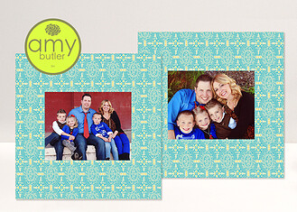 Pacific Memoir Duo by Amy Butler - 2 16x16 Mats Pacific Melody <small>by Amy Butler</small> Framers - Front