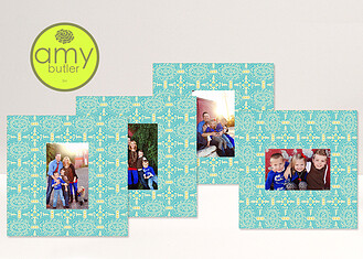 Pacific Memoir Quartet by Amy Butler - 4 10x10 Mats Pacific Melody <small>by Amy Butler</small> Framers - Front