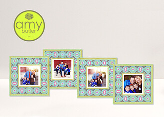 Pacific Notes by Amy Butler - 4 8x8 Mats Pacific Melody <small>by Amy Butler</small> Framers - Front
