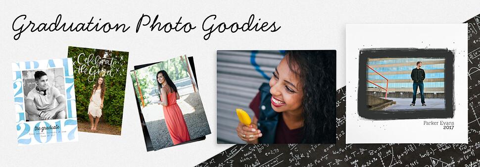 Celebrate your senior's big accomplishment with graduation photo goodies.