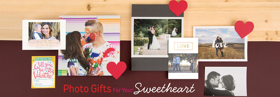 Show your sweetheart how much you care with Valentine's Day photo gifts.
