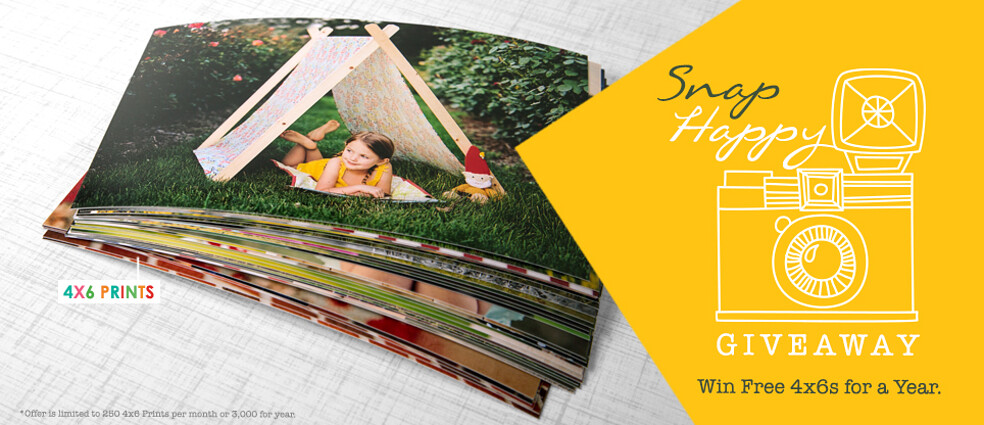 Snap Happy Giveaway! Win Free 4x6's for a Year!