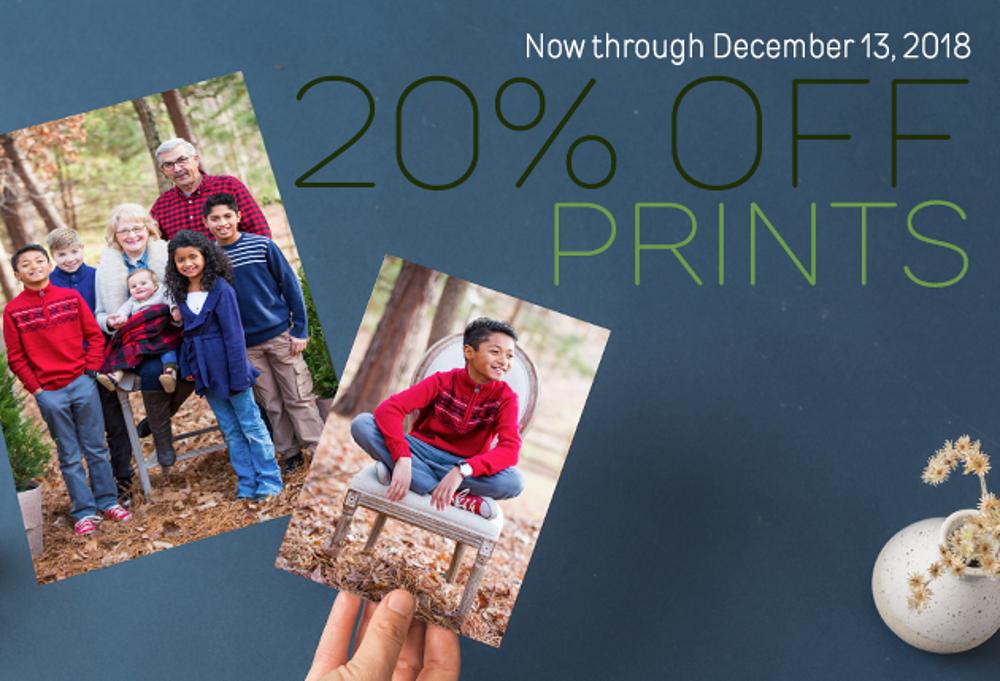20% Off Photo Prints Sale